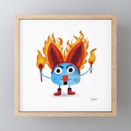 Firefox Finn Framed Mini Art Print