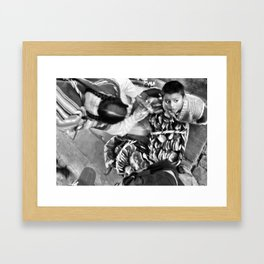 Bolivian Mother and Son Framed Art Print