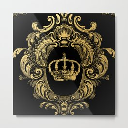 Gold Crown Metal Print