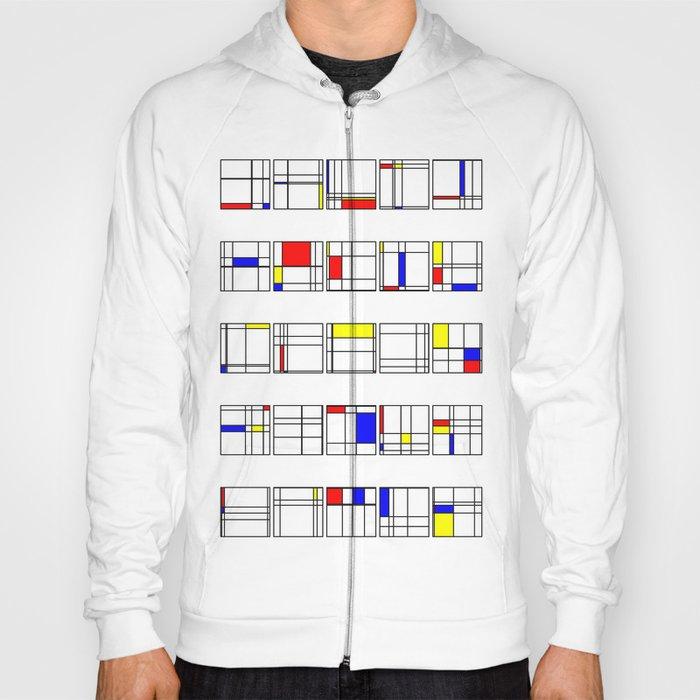 "Math Art Digital Print - ""mondRian"" Hoody"