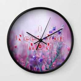 happy mothers day, mom i love you Wall Clock