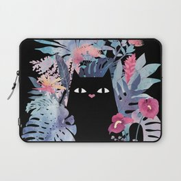 Popoki (Pastel Black Velvet) Laptop Sleeve