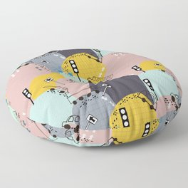 Four wheels purple Floor Pillow