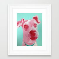 jack russell Framed Art Prints featuring Jack Russell by Caroline Ward