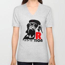 Revolution - Evolution - chimp Unisex V-Neck
