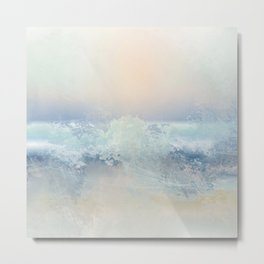 Ocean Splash In The Sunset Metal Print