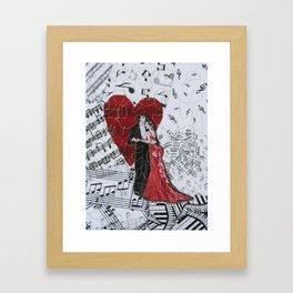 Romantic Ballroom Dancers Framed Art Print