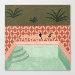 Lido Swimwear - Poolside Canvas Print