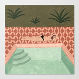 Lido Swimwear - Poolside Canvas Print