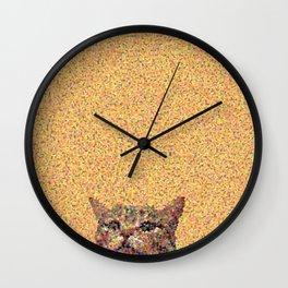Glitzy Cat Wall Clock