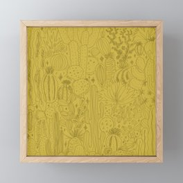 Cactus Scene in Green Framed Mini Art Print