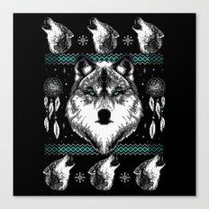 Merry Wolfmas Canvas Print