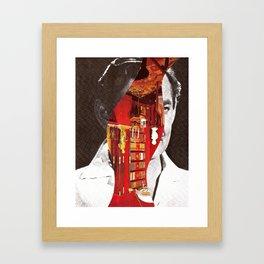 Obscured Face Framed Art Print