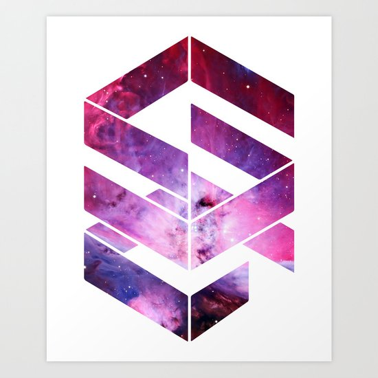 Abstract Space - version 1 Art Print