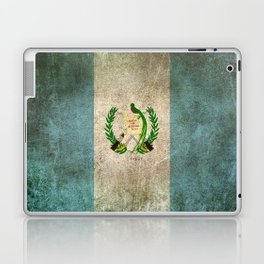 Old and Worn Distressed Vintage Flag of Guatemala Laptop & iPad Skin