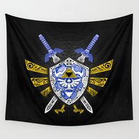 hyrule Wall Tapestries featuring Heroes Legend - Zelda by Art & Be
