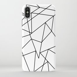 Simple Modern Black and White Geometric Pattern iPhone Case