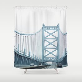 The Ben Franklin Bridge Shower Curtain