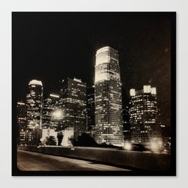LA at night. Canvas Print
