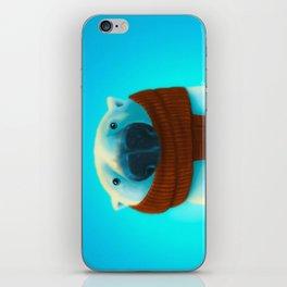 Polar bear with scarf iPhone Skin