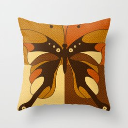 RETRO BUTTERFLY Throw Pillow