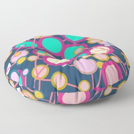Colorful networks Floor Pillow