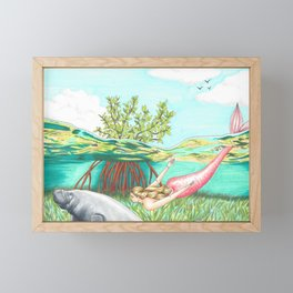 Mermaid in the Mangroves Framed Mini Art Print
