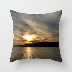 Let's watch the sun go down Throw Pillow