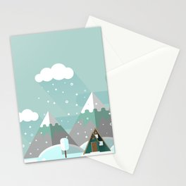 A Frame in the Mountains Stationery Cards