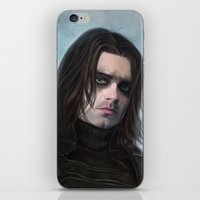 the winter soldier iPhone & iPod Skins featuring Winter Soldier by Slugette