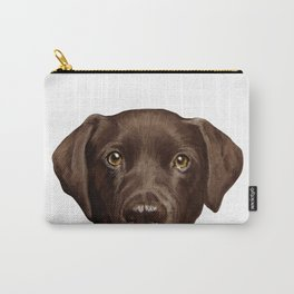 Labrador Chocolate original illustration by miart Carry-All Pouch