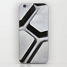 Black rubber tire background iPhone Skin