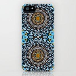 Calligraphic Boho (Blue) iPhone Case