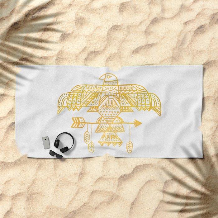 Hawk Eye Beach Towel