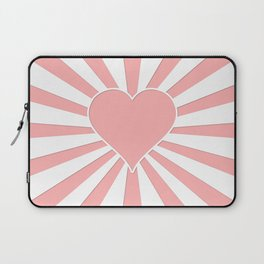 Pink Coral Valentine Love Heart Explosion Laptop Sleeve