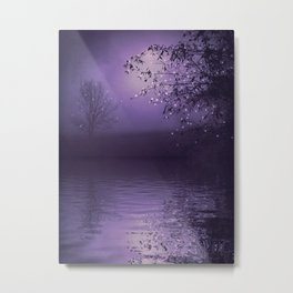 SONG OF THE NIGHTBIRD - LAVENDER Metal Print