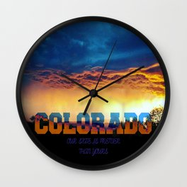 Colorado is pretty...3 Wall Clock