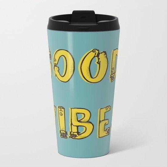 Good Vibes Pugs Metal Travel Mug
