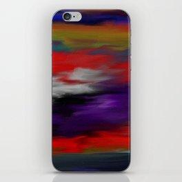 Variegated dark color iPhone Skin