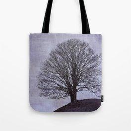 Tree in purple Tote Bag