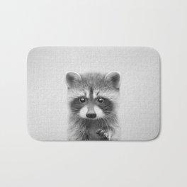 Raccoon - Black & White Bath Mat