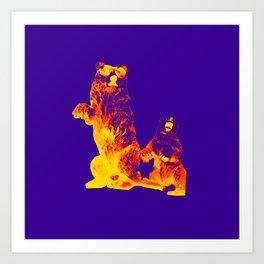 Ours Republique purple Art Print