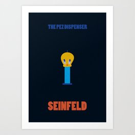 Seinfeld The Pez Dispenser Minimalist Poster Art Print