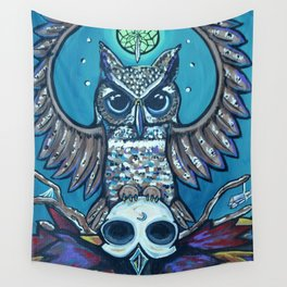 The Owl's Alter Wall Tapestry