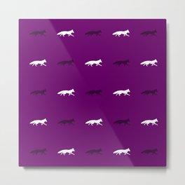 Purple Foxes! Metal Print