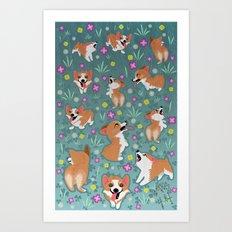 Corgis Art Print