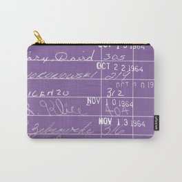 Library Card 23322 Negative Purple Carry-All Pouch