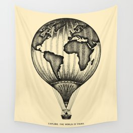 EXPLORE. THE WORLD IS YOURS. Wall Tapestry