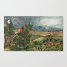 Snail in the Tree Poster Canvas Print