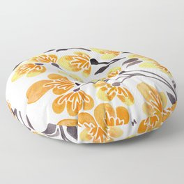 Cherry Blossoms – Yellow Palette Floor Pillow